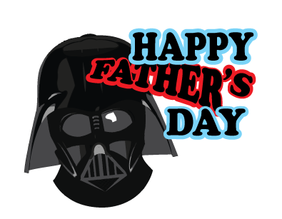 Darth Vader Happy Father's Day Greeting Card