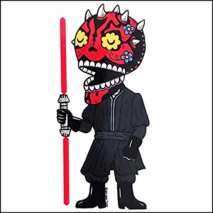 Darth Maul - Day of the Dead Sticker