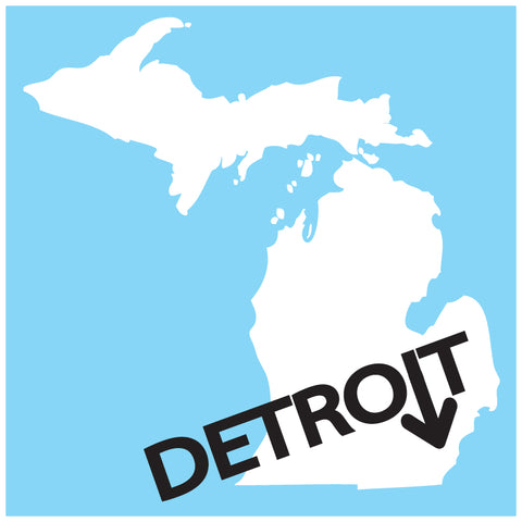 Detroit Arrow Sticker