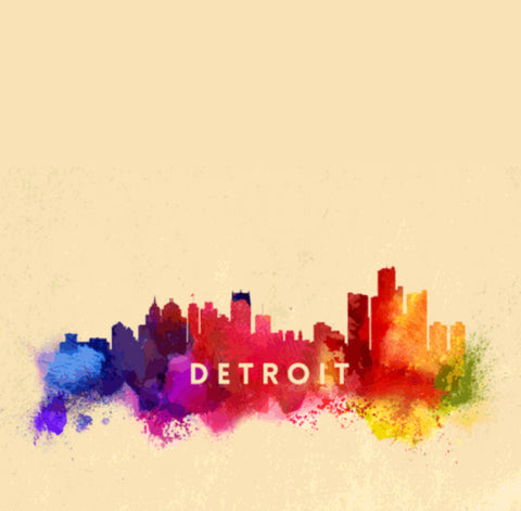 Detroit Skyline Sticker