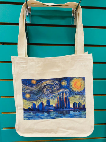 Detroit Starry Night City Tote
