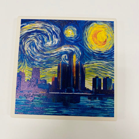 Detroit Starry Night Coaster
