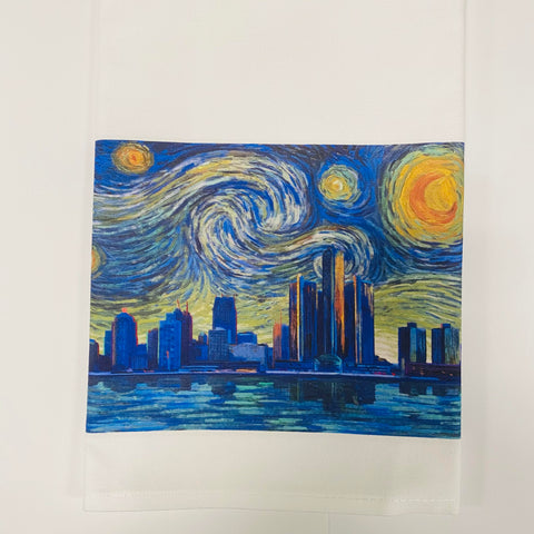 Detroit Starry Night Dish Towel