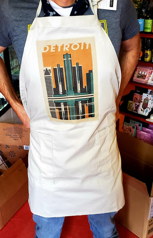 Detroit Woodblock Apron