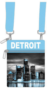 Detroit Skyline Mini Crossbody