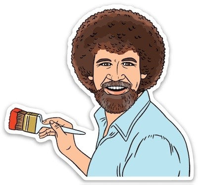 Diecut Bob Ross Sticker