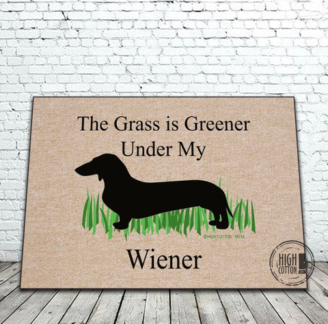 Doormat Grass Greener Wiener