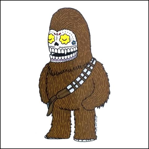 Chewbacca - Day of the Dead Sticker