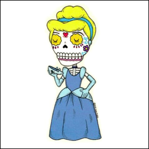 Cinderella - Day of the Dead Sticker