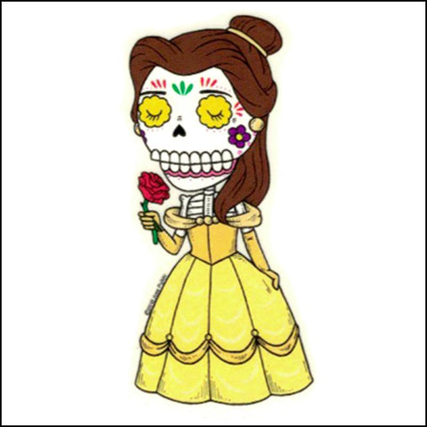 Belle - Day of the Dead Sticker