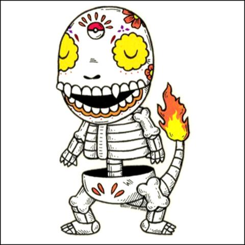 Charmander - Day of the Dead Sticker