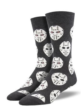 Face Off Men's Charcoal Socks