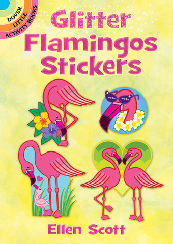 Flamingo Stickers Glitter
