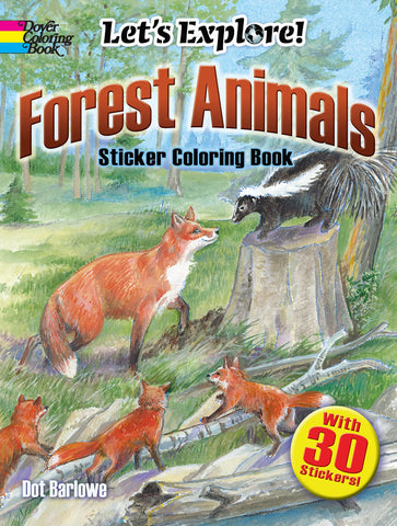 Forest Animals Sticker Coloring Book