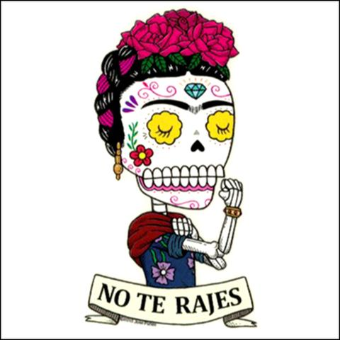 Frida No Te Rajes - Day of the Dead Sticker