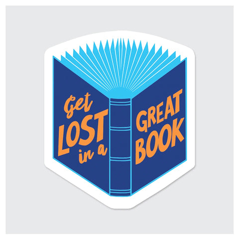 Get Lost In Great Book Sticker
