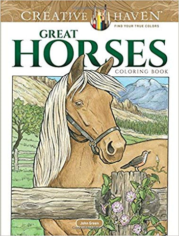 Great Horses Coloring Book