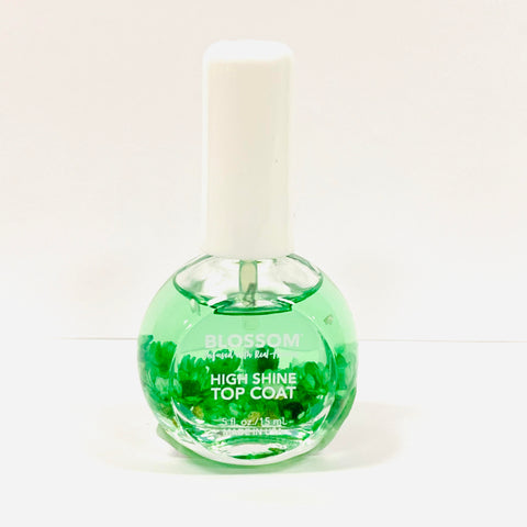 Green Flowers Top Coat