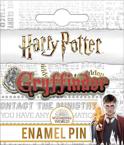 Gryffindor Name Enamel Pin