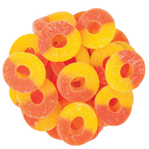 Gummy Peach Rings 8 oz