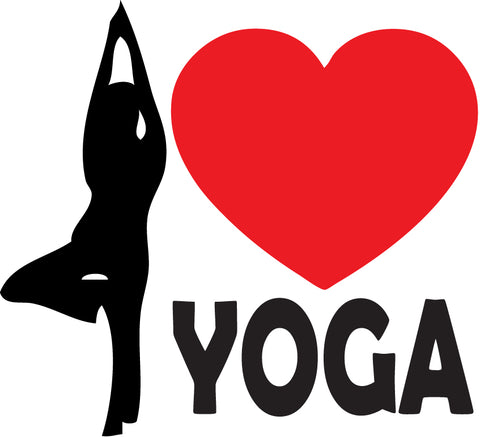 Heart Yoga Sticker