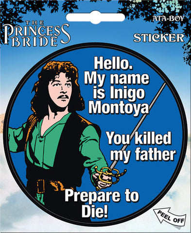 Hello My Name Sticker Princess Bride