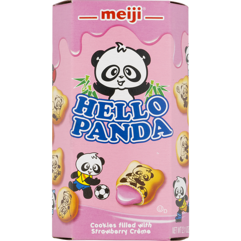 Hello Panda Strawberry Cookies