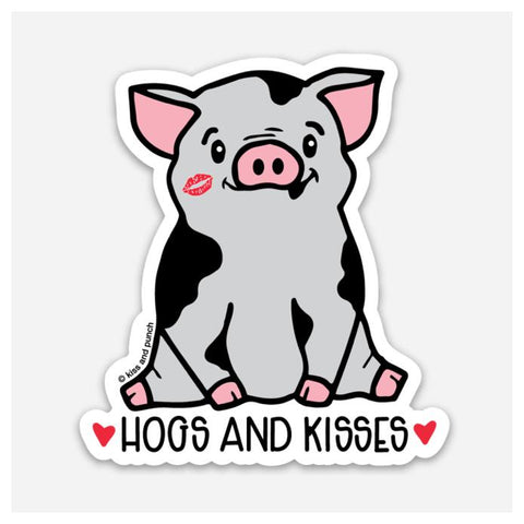 Hogs And Kisses Sticker
