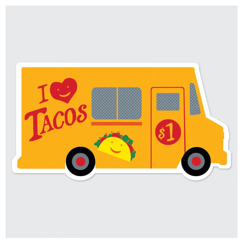 I Love Tacos Taco Truck Sticker