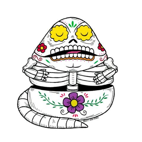 Jabba - Day of the Dead Sticker