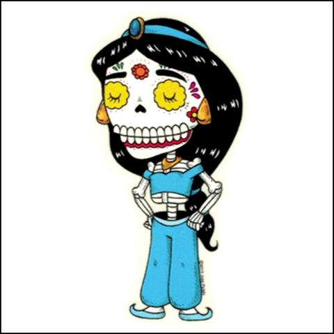 Jasmine - Day of the Dead Sticker