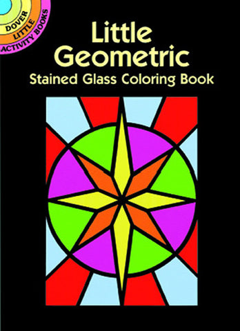 Little Geometric Stained Glass Coloring Book