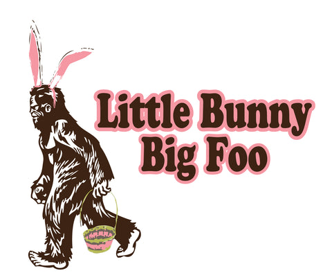 Little Bunny Big Foo Easter Greeting Card