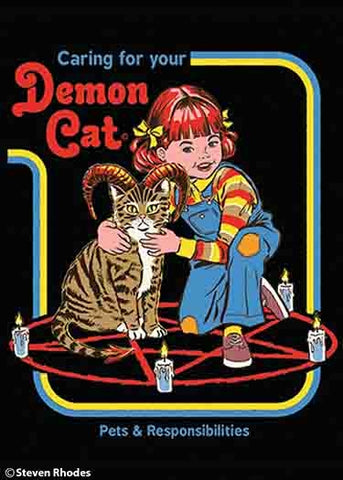Caring For Your Demon Cat Magnet