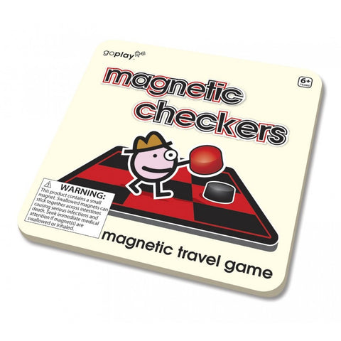 Magnetic Checkers Travel Game
