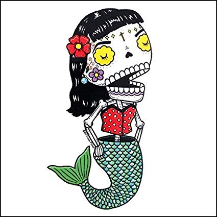 Mermaid - Day of the Dead Sticker