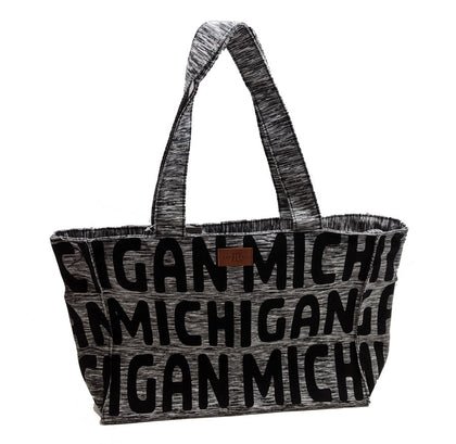 Michigan Gray Purse