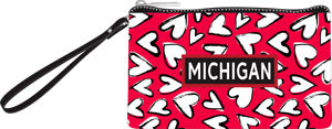 Michigan Hearts Small Clutch
