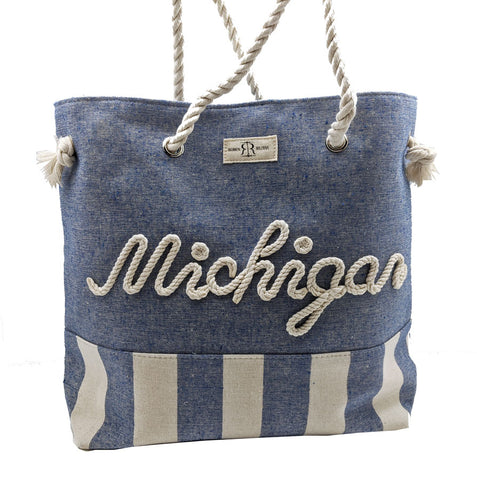 Michigan Large Rope Tote Bag
