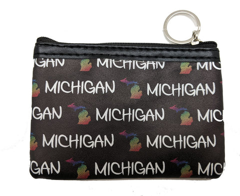 Michigan Map Icon Coin Purse