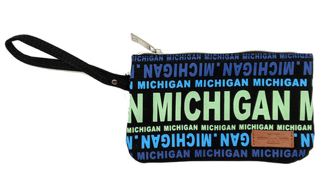 Michigan Text Small Clutch