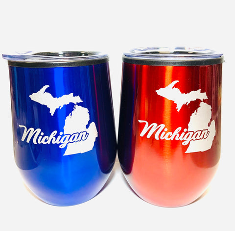 Michigan Travel Wine Glass (Choose One)