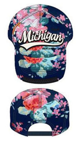 Michigan Blue Floral Hat