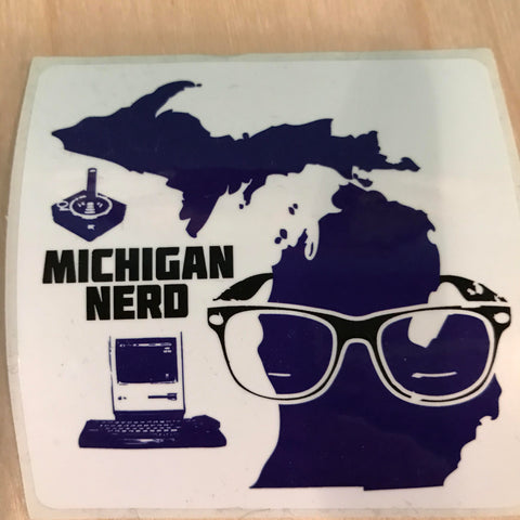 Michigan Nerd Sticker