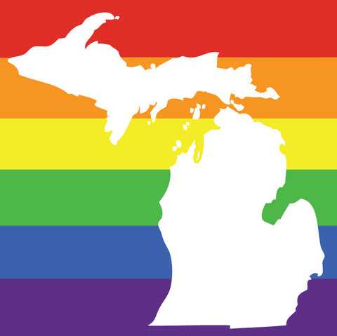 Michigan Rainbow Sticker