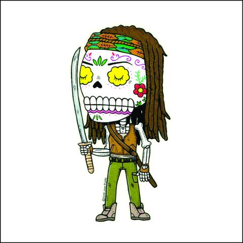 Michonne - Day of the Dead Sticker