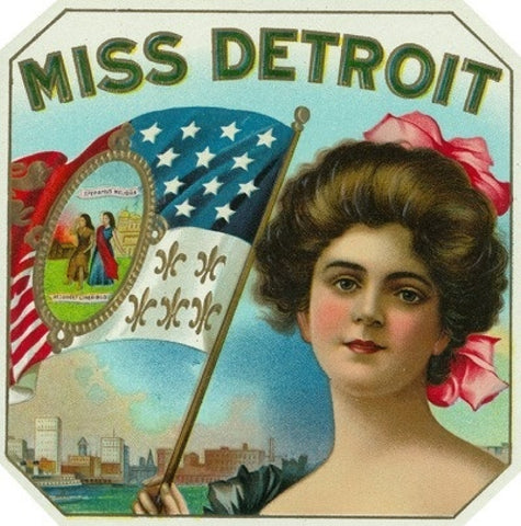 Miss Detroit Sticker