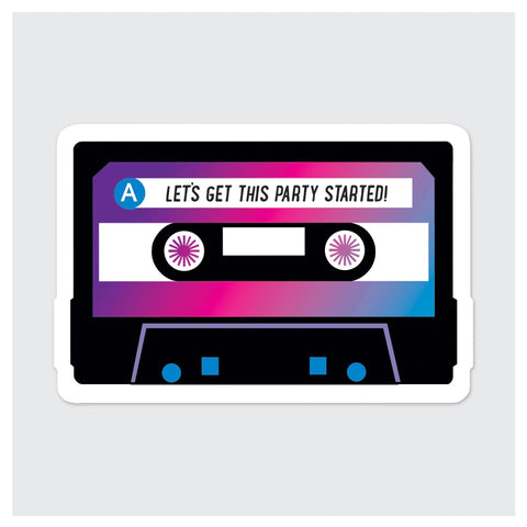 Mix Tape Party Started Sticker