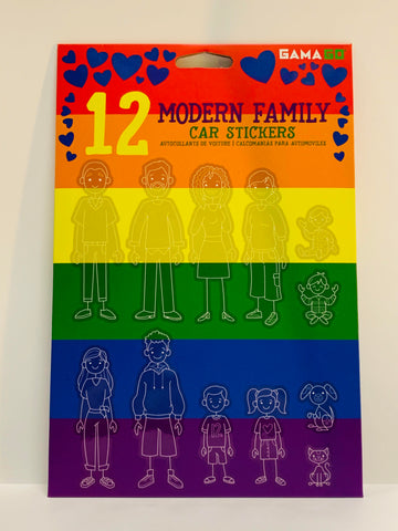 Modern Family Car Stickers