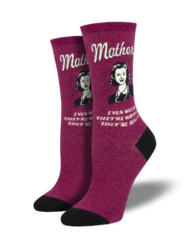 Mothers Know Best Wine Socks
